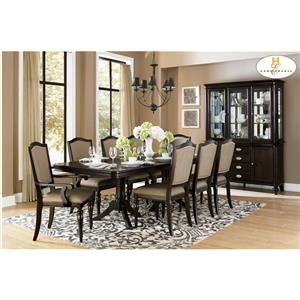 Homelegance Marston 9 Piece Dining Table and Chair Set