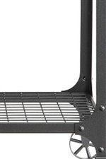 Tables Feature Metal Grid Shelves