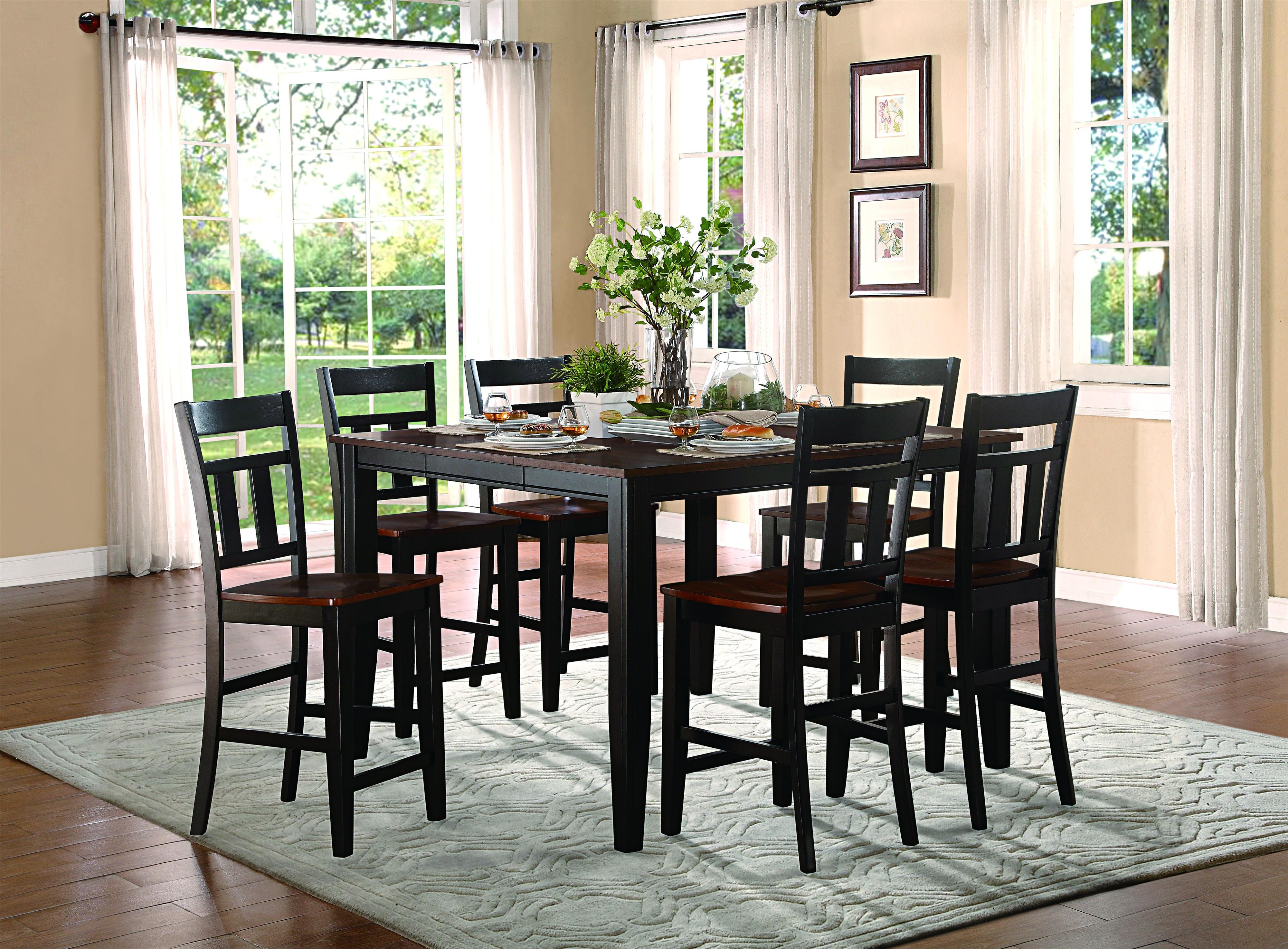 """Homelegance Westport Extendable Dining Table with 18"""" Leaf"""