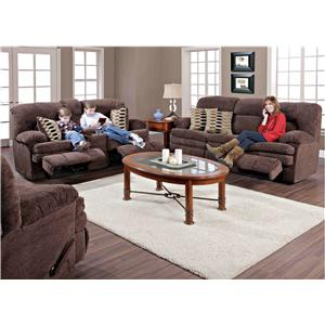 HomeStretch 103 3-Piece Casual Two-Tone Reclining Sofa Sectional