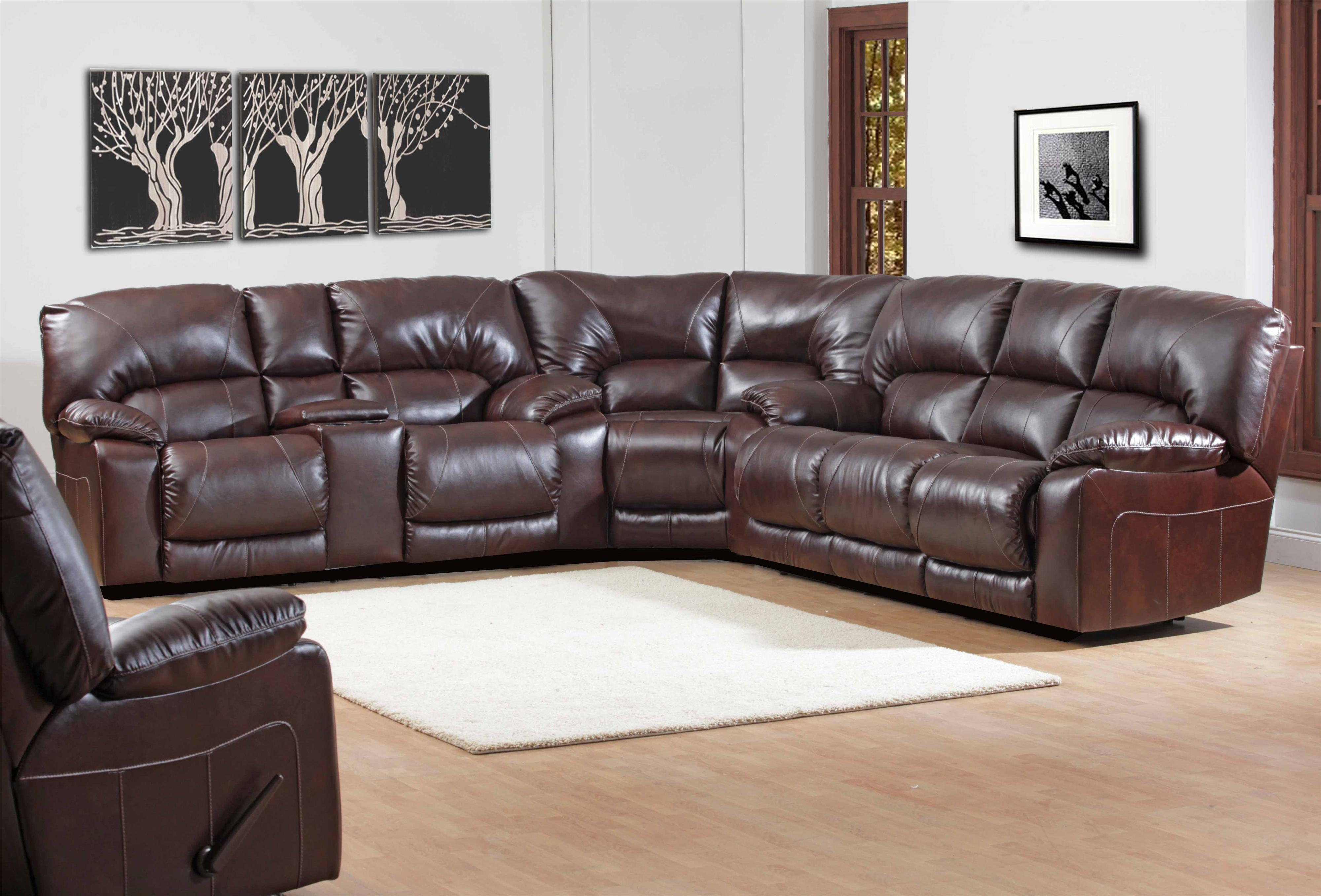 HomeStretch 114 Series Casual Reclining Console Loveseat