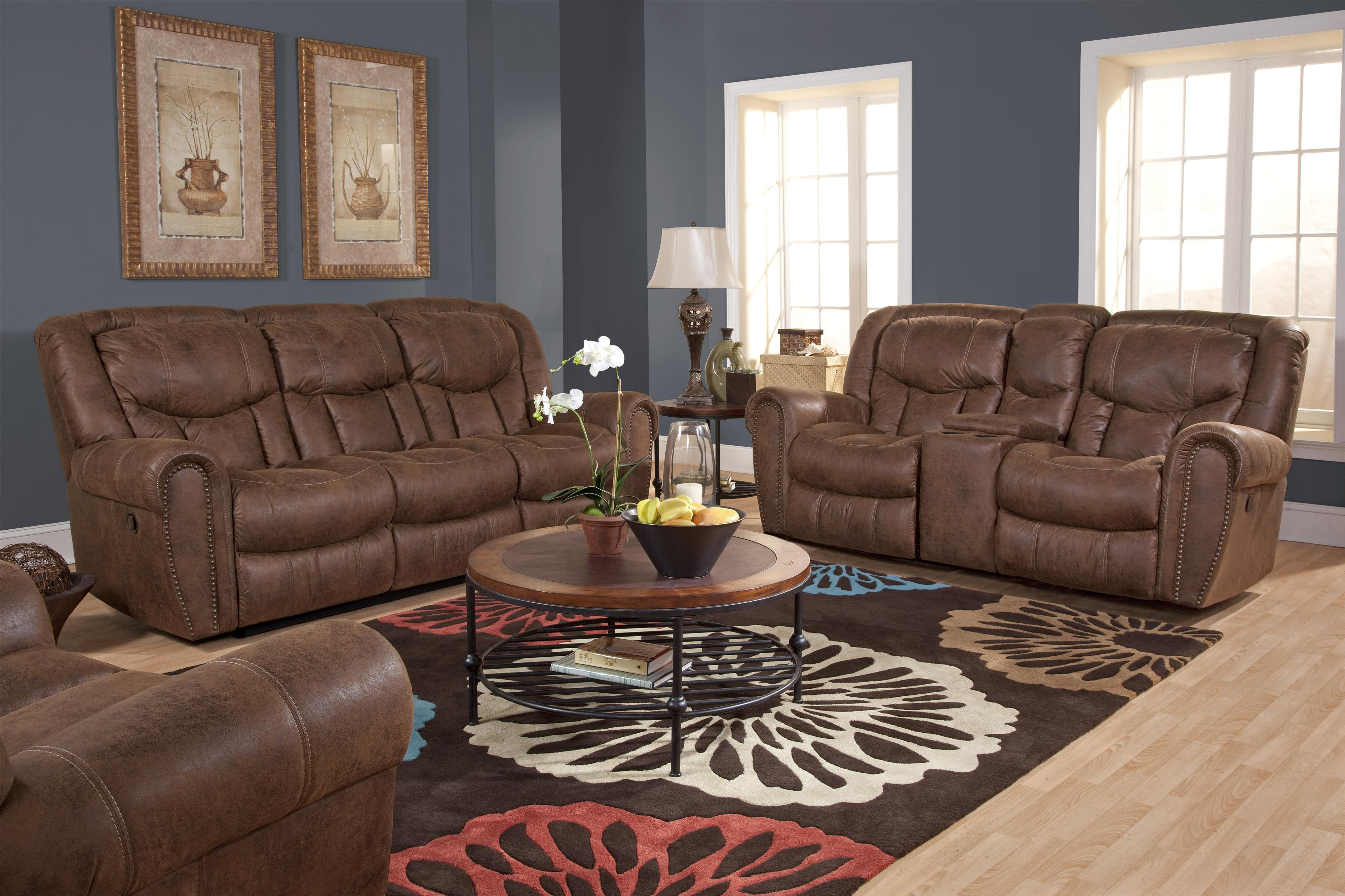 HomeStretch 123 Collection Reclining Living Room Group - Item Number: 123-17 Living Room Group 1