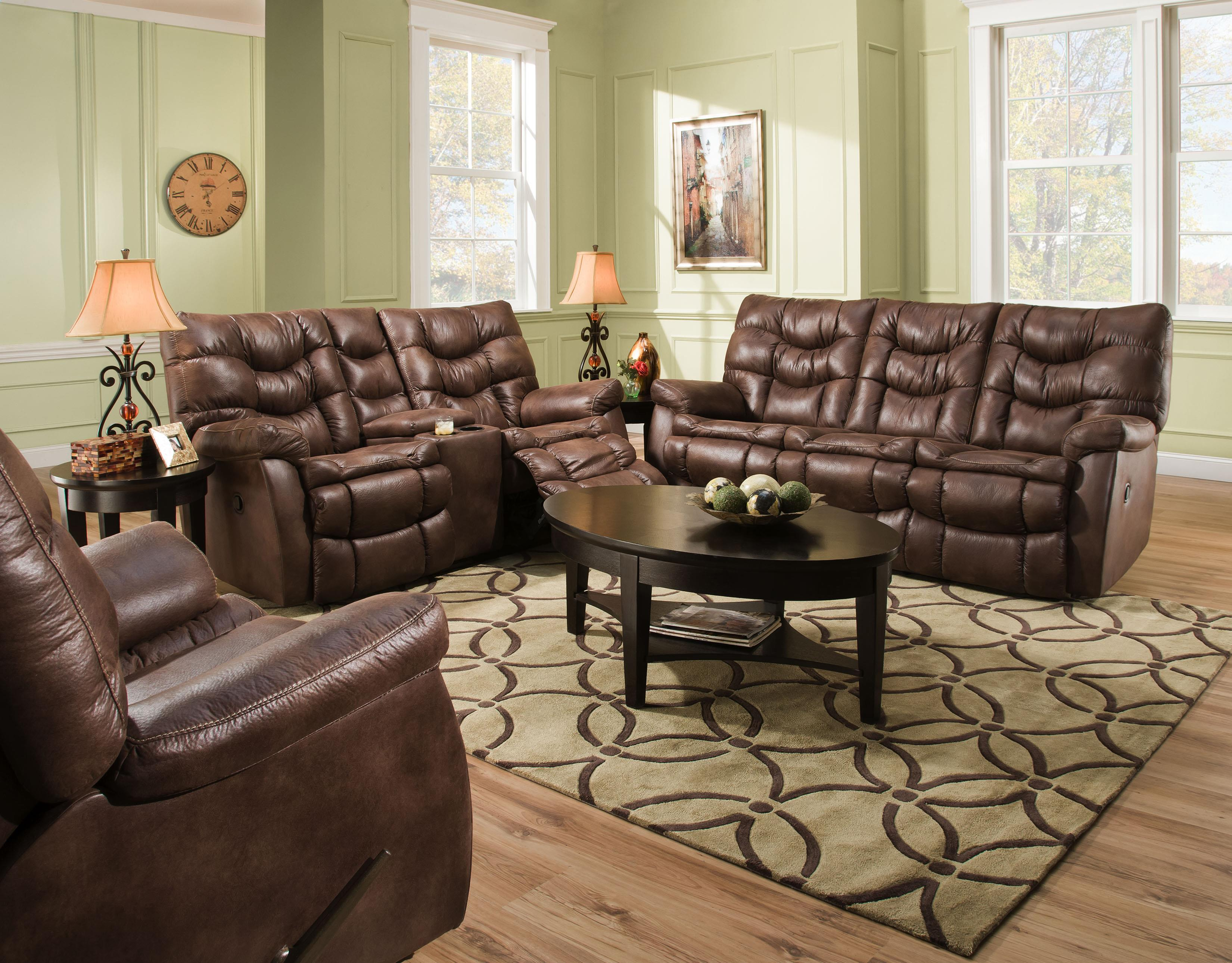 HomeStretch 130 Reclining Living Room Group - Item Number: 130 Living Room Group