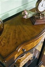 Top of chest with maple veneers featured in this collection