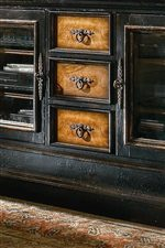 Antique hardware and hand painted detailing