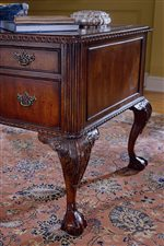 Ornately Carved Claw and Ball  Legs on Desk and Chair