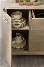Adjustable Shelves on Select Pieces Allow for Flexible Storage Options