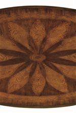 Sunburst Parqueted Veneer Desk Top
