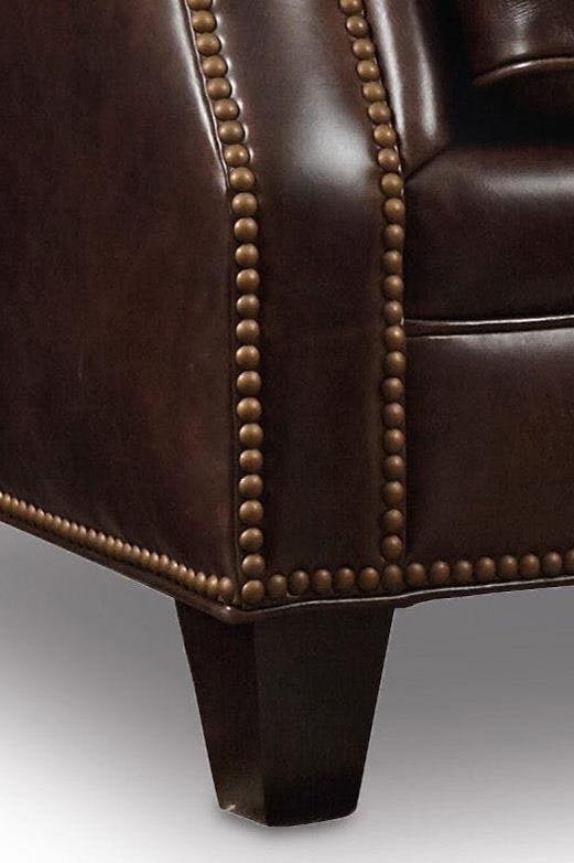 Hooker Furniture Bradshaw Traditional Stationary Leather Sofa With Nailhead  Trim   Wayside Furniture   Sofas