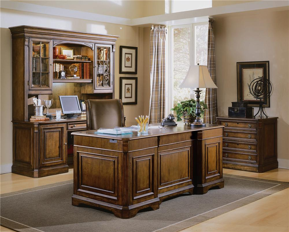 "Hooker Furniture Home Office Unique Hooker Furniture Brookhaven Executive ""l"" Right Return Desk . Design Decoration"