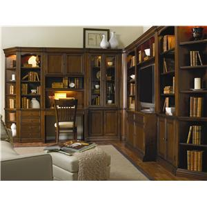 Hooker Furniture Cherry Creek  Peninsula Partner Desk with Bookcase Base