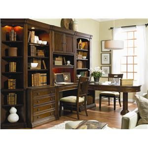 Hooker Furniture Cherry Creek  Traditional Modular Wall System with Desk and Entertainment Unit