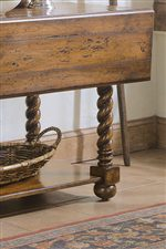 Jacobean Twist Console's Twisted Legs