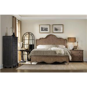 Hooker Furniture Corsica California King Panel Bedroom Group