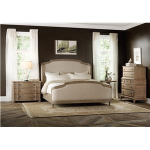 Hooker Furniture Corsica California King Shelter Bedroom Group