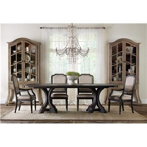 Hooker Furniture Corsica Formal Dining Room Group with Display Cabine