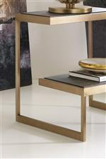 Metal Frames and Brass Finishes Bring a Sleek, Polished Modern Feel to the Collection