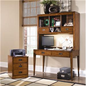 Hooker Furniture Danforth Open Credenza Desk Unit