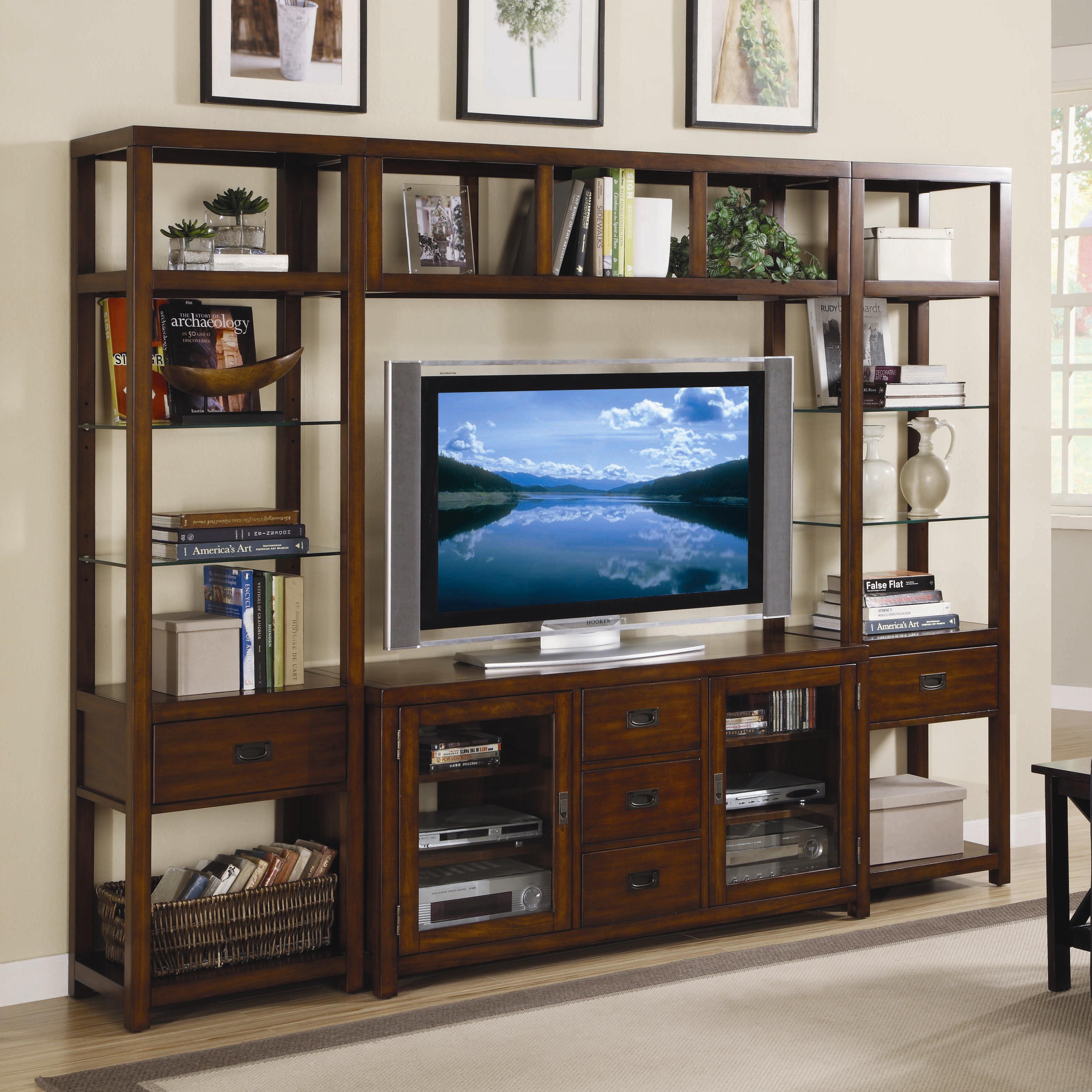hooker furniture danforth open entertainment wall unit - belfort