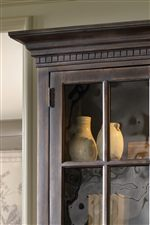 Select Cases Feature Crown Moldings with Dentil Molding Accents