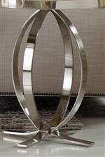 Silver Metal Plated Base Adds Glamour