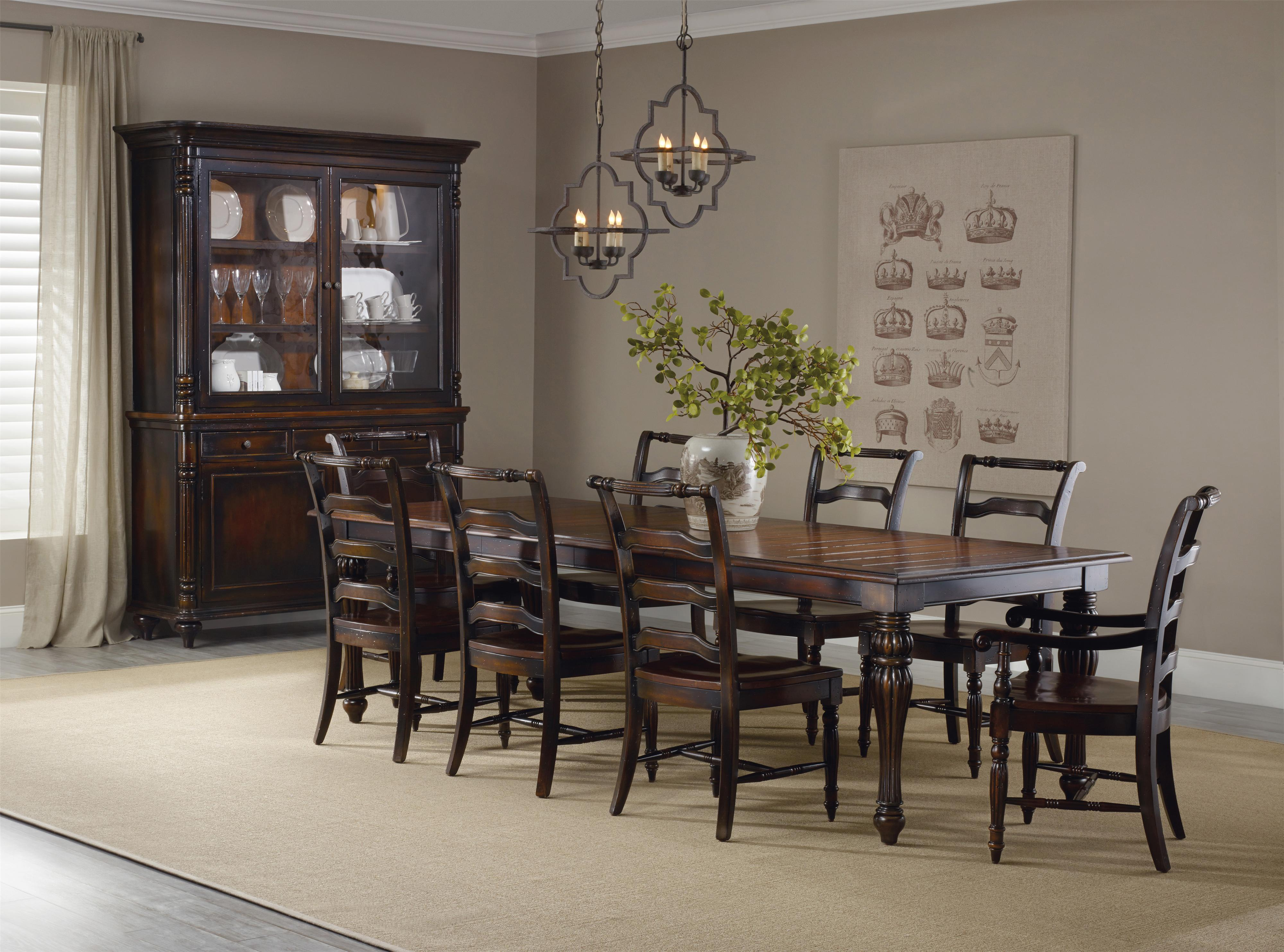 Hooker Furniture Eastridge Rectangle Table Dining Room Group - Item Number: 5177 Dining Group 1
