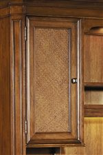 Reversible Raffia/Wood Panel Door