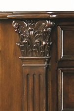 Elaborate Wood Carving Details and Fluted Pilasters