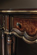Champagne-Colored Tipping on Moldings Highlight Graceful Shapes