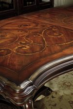 Hand-Highlighting Emphasizes Beautiful Marquetry on Table Tops, Headboards, and Desk Tops