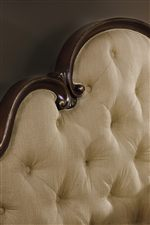 Upholstered Headboard with Button Tufting