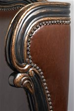 The Subtle Sparkle of a Nailhead Trim Beautifully Borders Luxurious Faux Leather