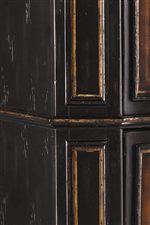 Breakfront Molding with Substantial Panel Details Infuses Case Pieces with Traditional Elegance