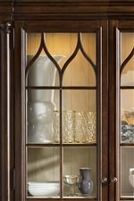 Touch Lighting in the China Cabinet Adds an Element of Luxury