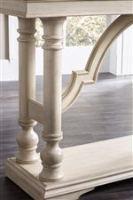 Southern Charm is Seen Through the Stately Details on Legs, Bases and Table Edges