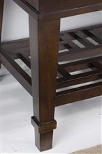 Square Tapered Legs with Banding Detail Provide Case Pieces with Subtle Style