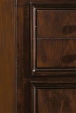 Minimal Drawer-Front Molding & Breakfront Detailing Showcases Modern-Transitional Flair