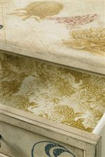 Wallpapered Drawer Interiors on Indicated Pieces