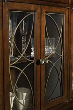 Metal Fretwork adds a Decorative Touch to Glass Doors