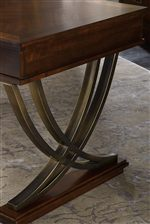 Curved X-Shaped Pedestal Seen on Writing Desk