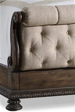 Select Frames Feature Fabric Upholstery and Button Tufts