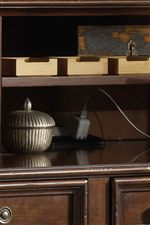 Credenza Features Power Bar with Two Electrical Outlets
