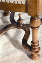 Turned Legs & Curvy X Stretcher on Chair Base