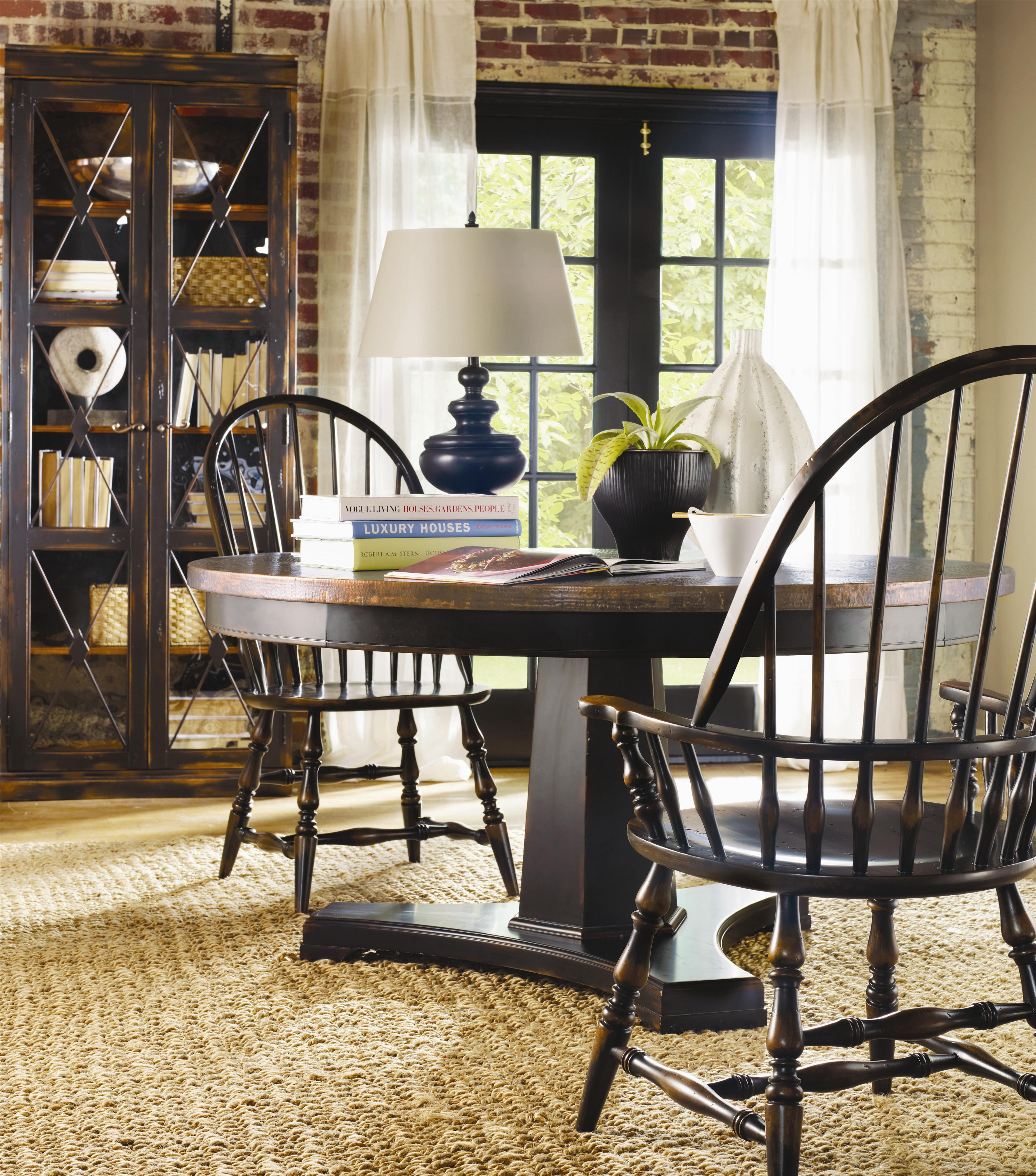 hooker furniture sanctuary 60 round pedestal dining table