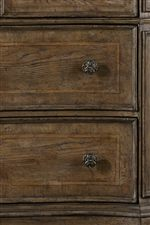 Frame Moldings on Select Drawers and Doors Add Depth and Dimension to Pieces
