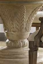 Fauna Carvings and Egg and Dart Molding Decorate Select Items