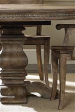 Sculpted Pedestal Bases and Bold Dentil Moulded Aprons on Dining Tables