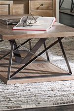 Metal and Wood Combinations Highlight Rustic Industrial Style