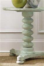 Spool Turned Pedestal