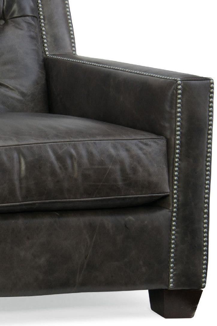 Hooker Furniture Trellis Transitional Stationary Leather Sofa With Nailhead  Trim - Wayside Furniture - Sofas